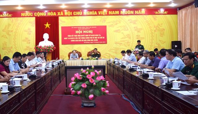 Hà Giang: Tổng kết thực hiện chế độ, chính sách đối với dân công hỏa tuyến